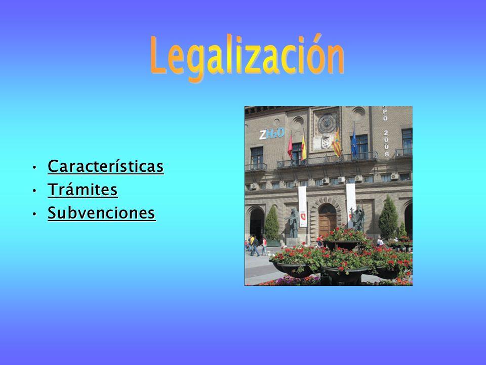 CaracterísticasCaracterísticas TrámitesTrámites SubvencionesSubvenciones