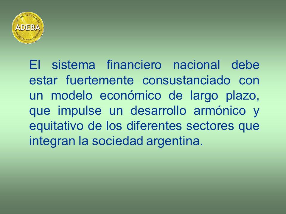 El sistema financiero nacional debe estar fuertemente consustanciado con un modelo económico de largo plazo, que impulse un desarrollo armónico y equi