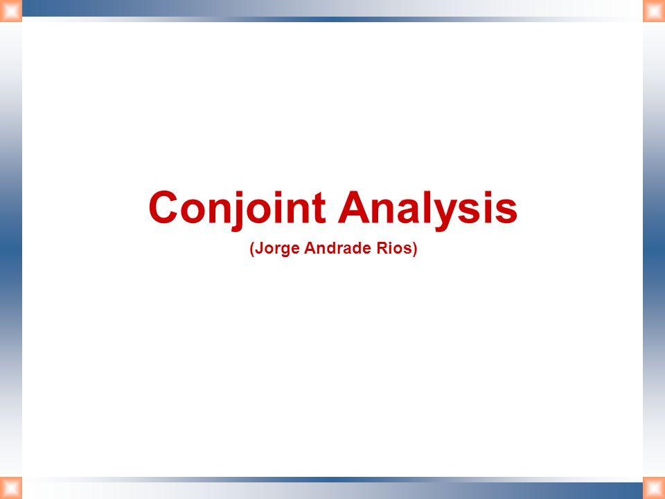 ¿Qué es conjoint analysis.