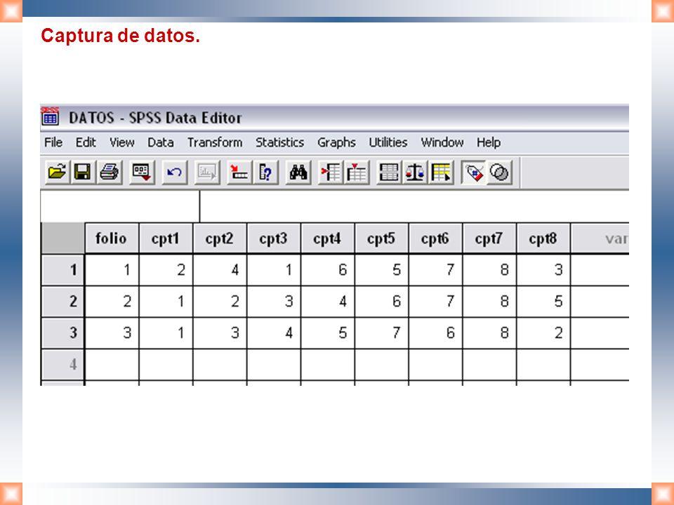 Captura de datos.