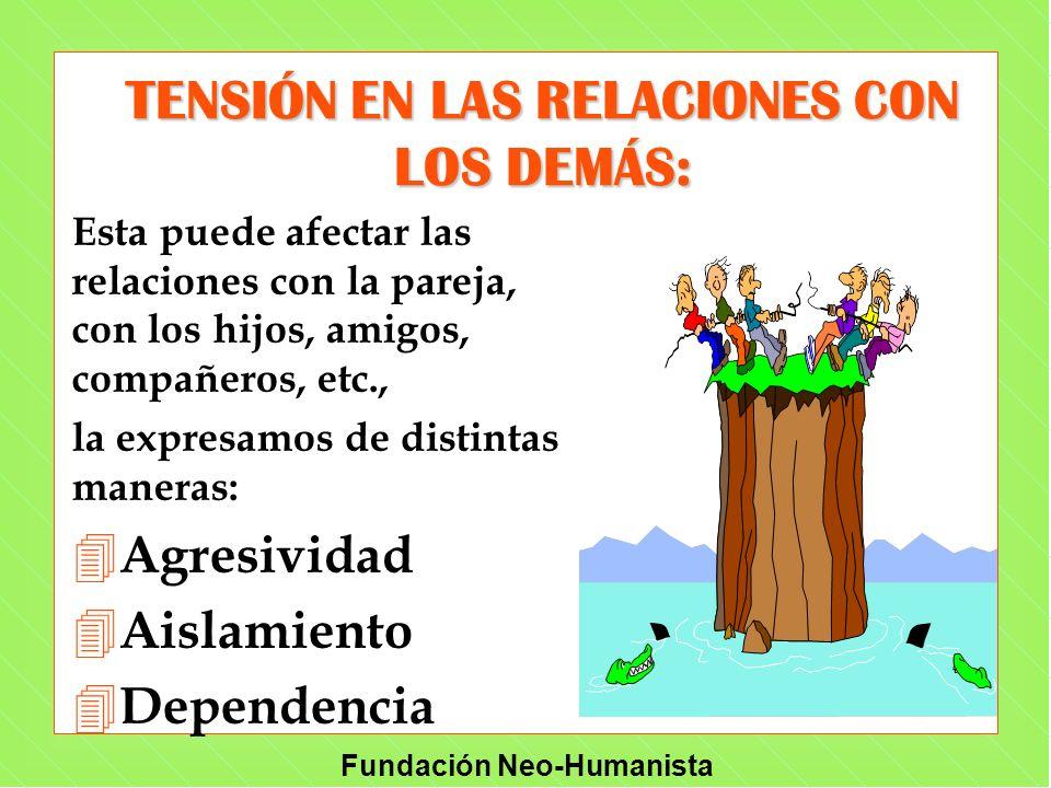Fundación Neo-Humanista Esta puede afectar las relaciones con la pareja, con los hijos, amigos, compañeros, etc., la expresamos de distintas maneras: