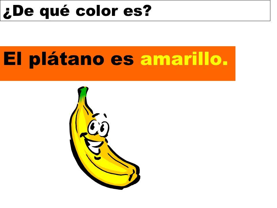 ¿De qué color es? El plátano es amarillo.