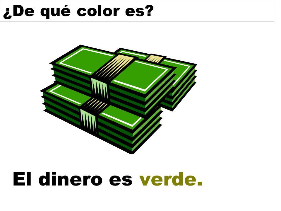 ¿De qué color es? El dinero es verde.