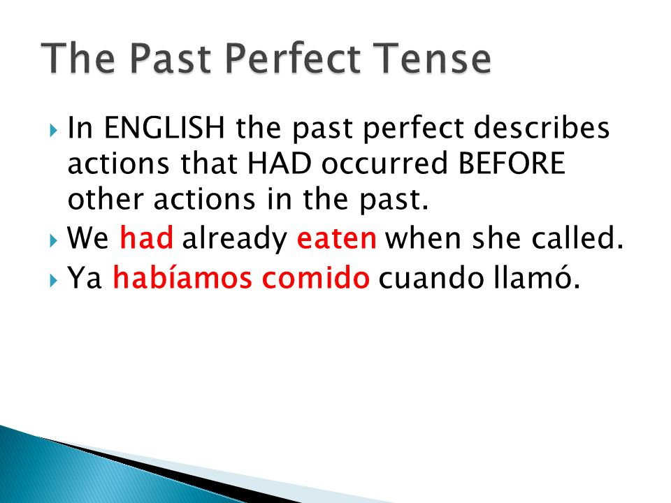 Use the past perfect tense to show that an event had already occurred (or not occurred) at a specific moment in the past.