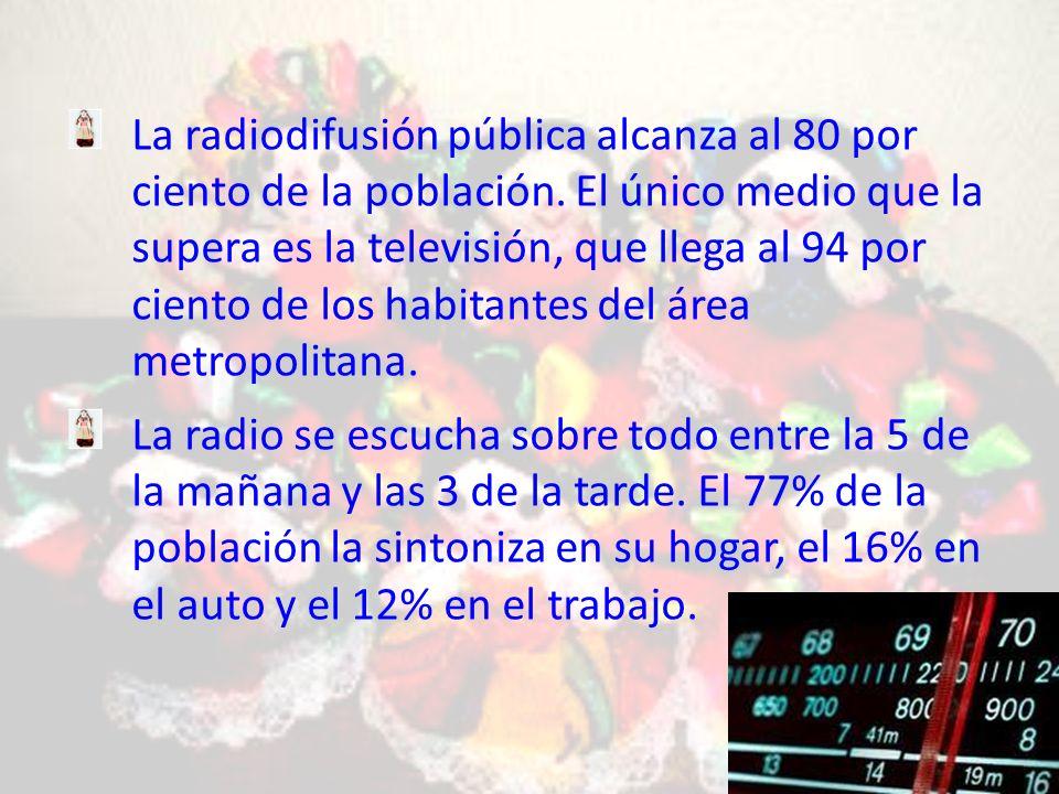 La radiodifusión pública alcanza al 80 por ciento de la población.