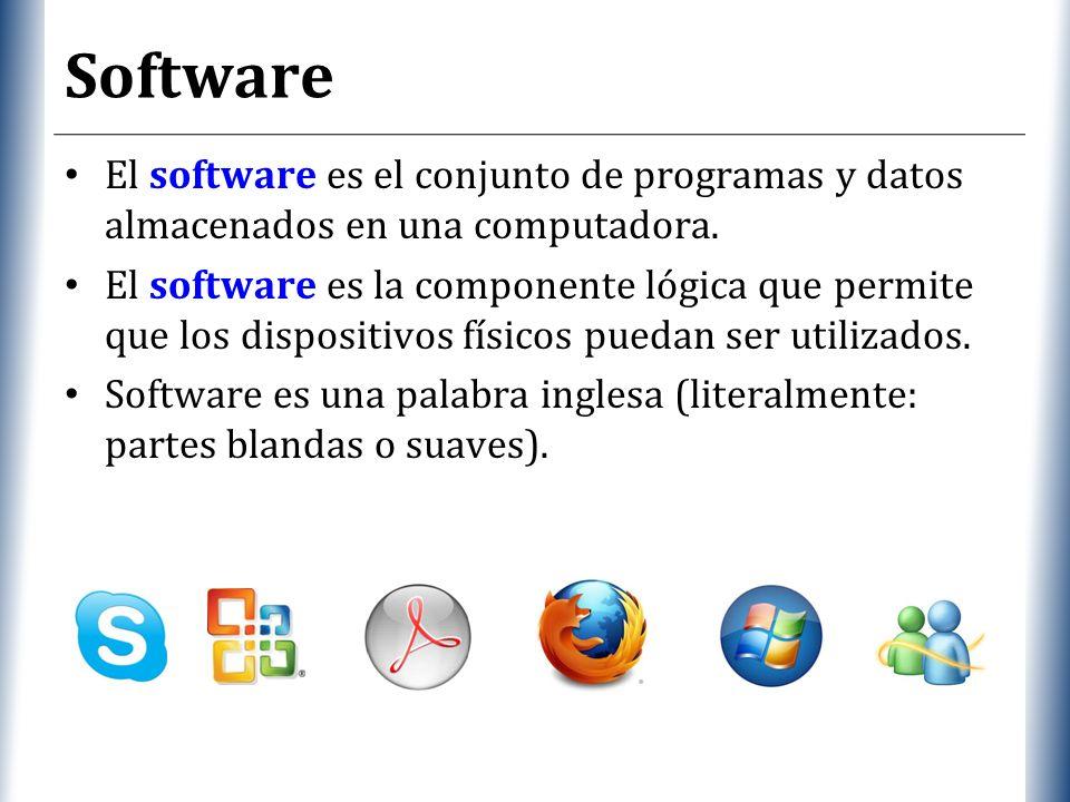 XP Software El software es el conjunto de programas y datos almacenados en una computadora.