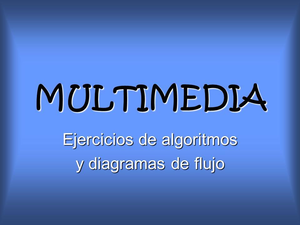 MULTIMEDIA Ejercicios de algoritmos y diagramas de flujo