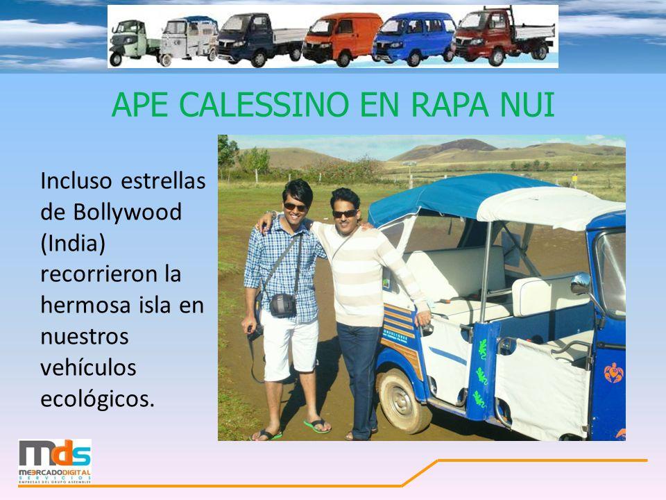 APE CALESSINO EN RAPA NUI Incluso estrellas de Bollywood (India) recorrieron la hermosa isla en nuestros vehículos ecológicos.