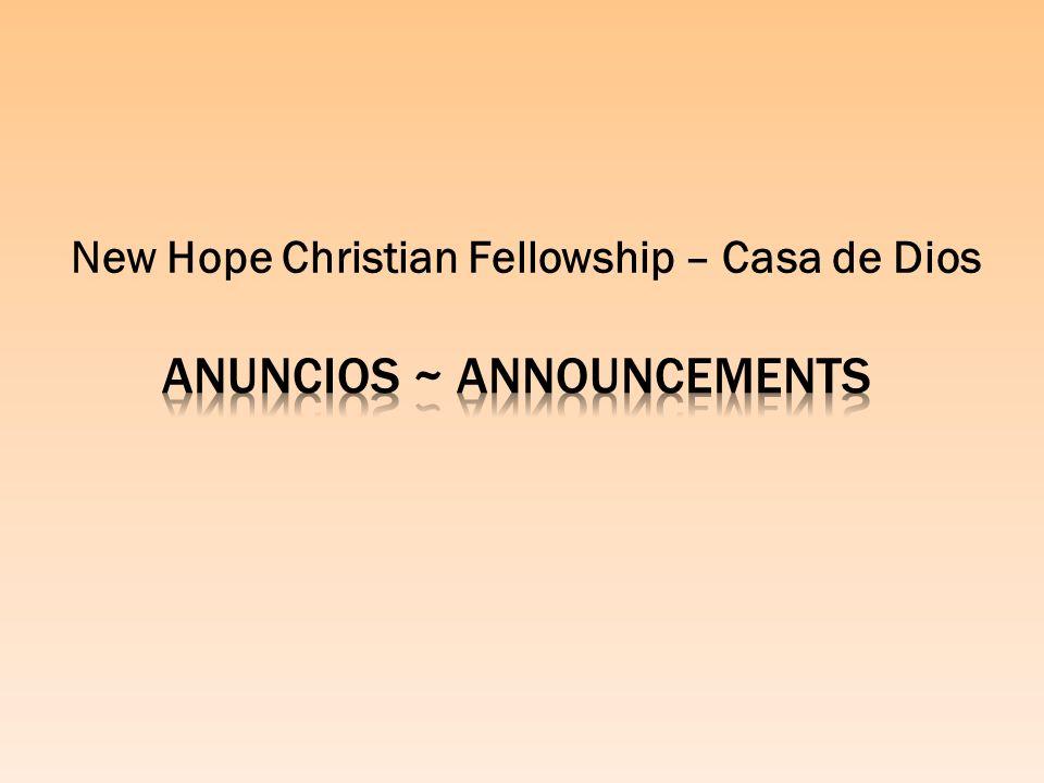 New Hope Christian Fellowship – Casa de Dios
