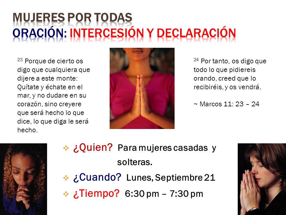 El Altar se Abre…Te Invitamos!
