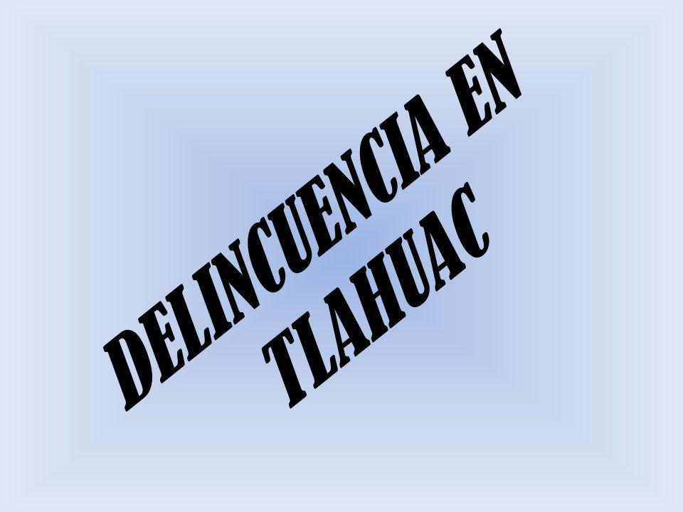 LA DELINCUENCIA EN TLAHUAC Aunque se ubica entre las tres demarcaciones con menor índice delictivo en el Distrito Federal, en Tlahuac la delincuencia comenzó a avanzar de manera sigilosa; tan sólo en el primer trimestre de este año, el total de delitos tuvo un aumento de 11.3 por ciento, respecto a los pasados tres meses de 2006, siendo marzo, el de mayor incidencia, informó el jefe delegacional, Gilberto Ensástiga Santiago.