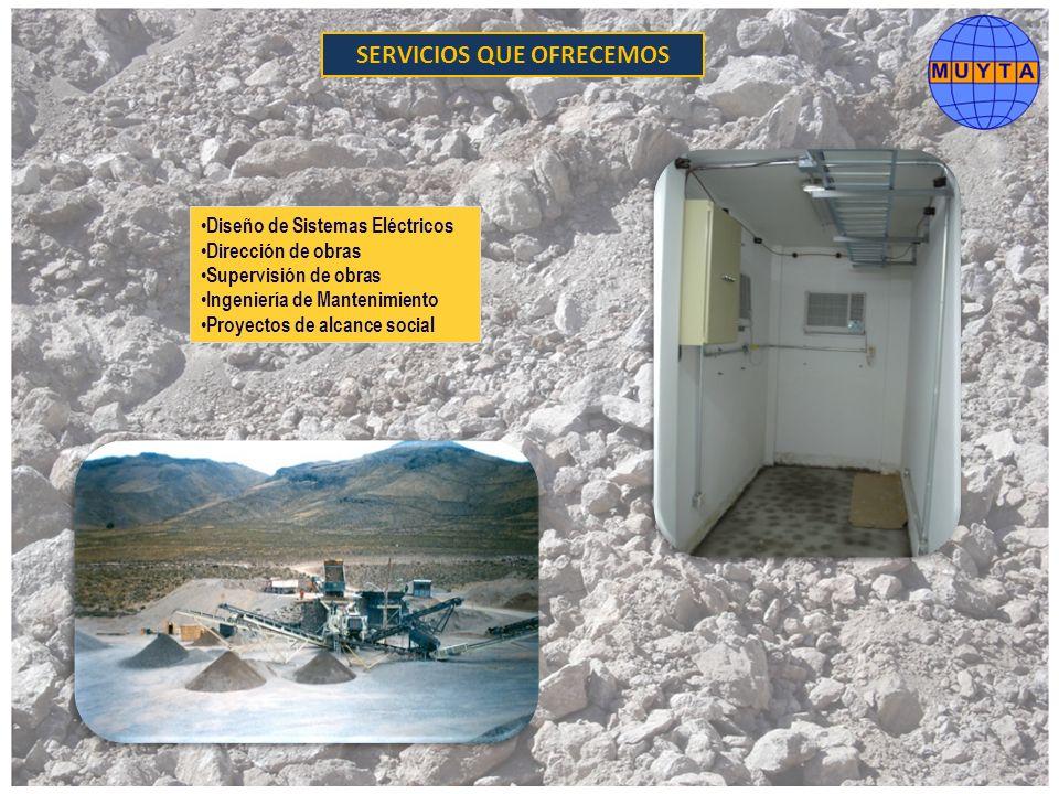Diseño de Sistemas Eléctricos Dirección de obras Supervisión de obras Ingeniería de Mantenimiento Proyectos de alcance social SERVICIOS QUE OFRECEMOS