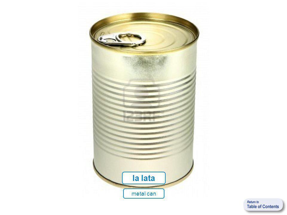 la lata metal can