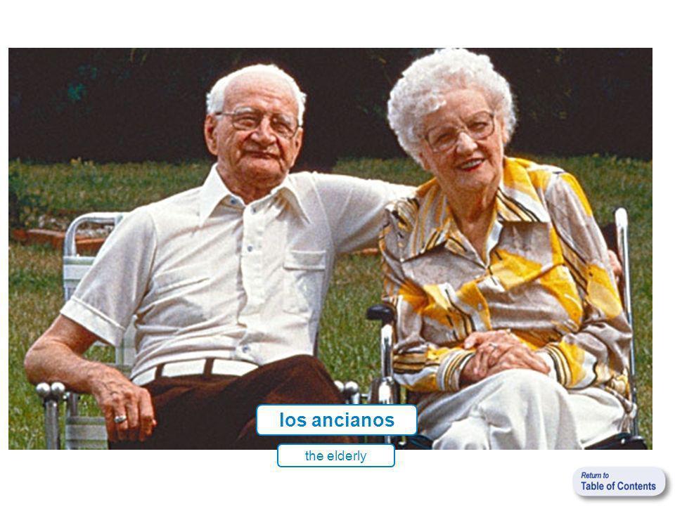 los ancianos the elderly