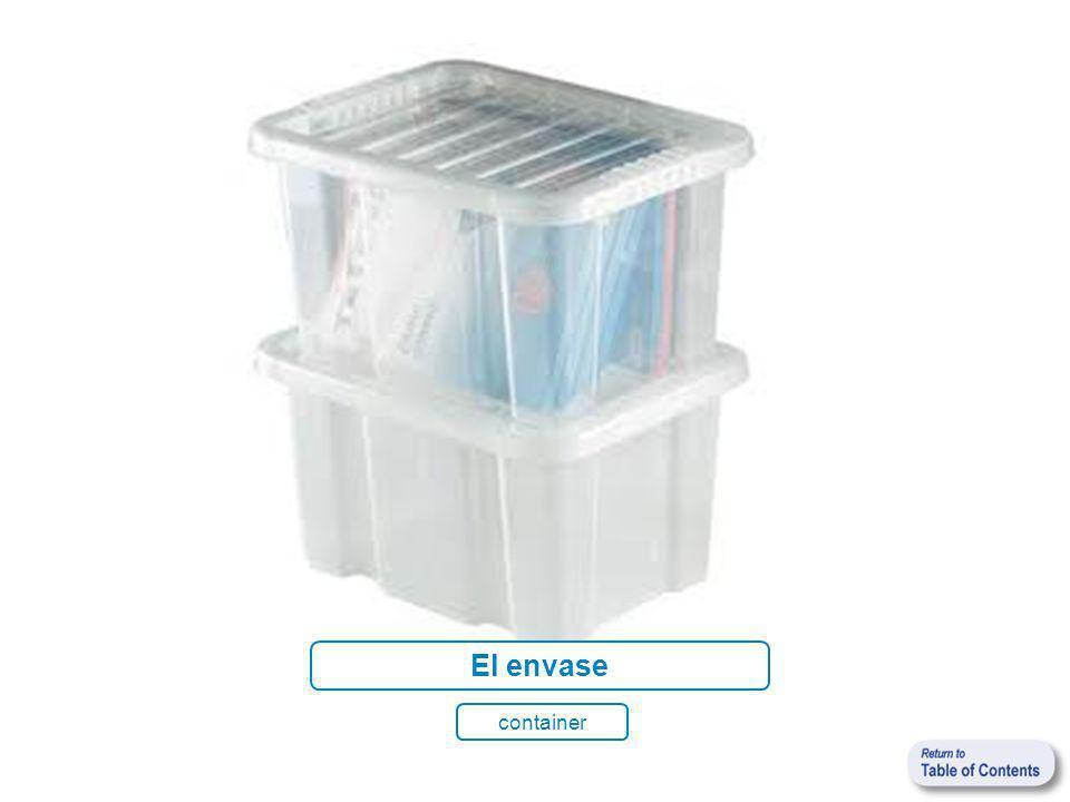 El envase container