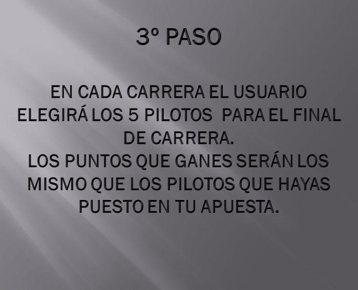 CADA JORNADA LOS USUARIOS ELEGIRÁN LOS 5 PILOTOS PARA LA POLE-POSITION.