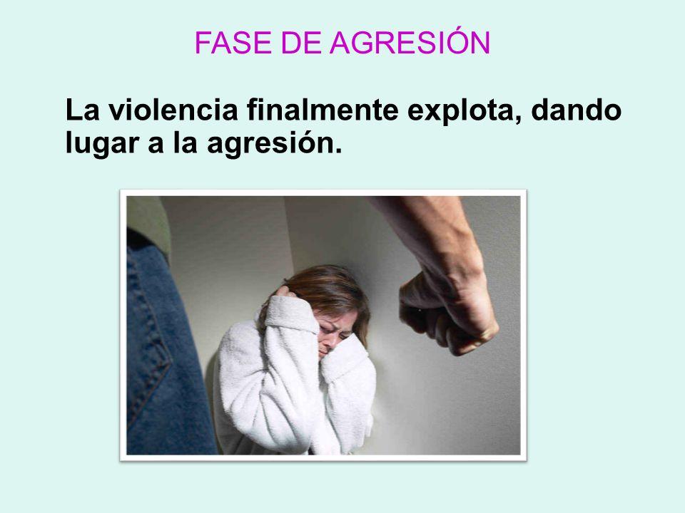 FASE DE AGRESIÓN La violencia finalmente explota, dando lugar a la agresión.