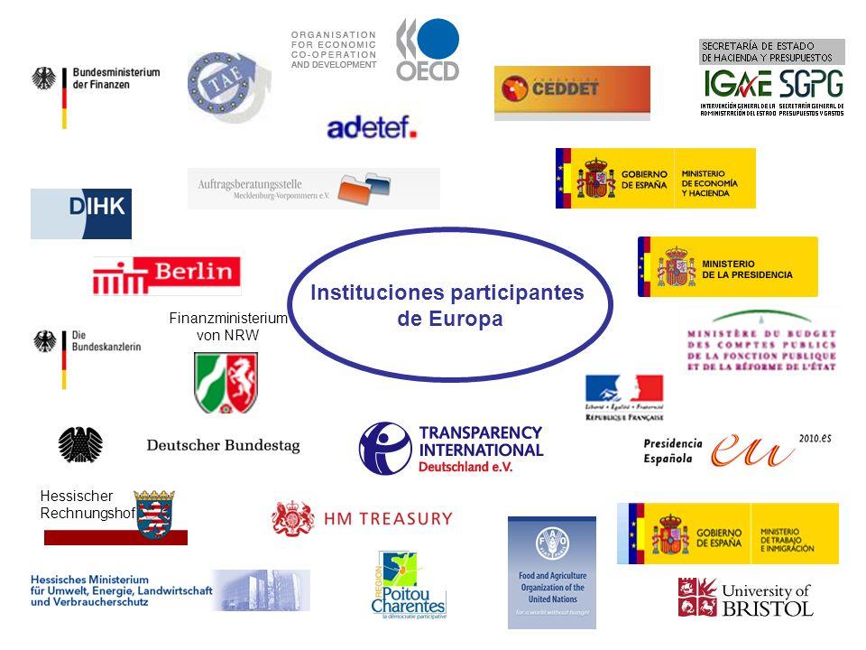 Finanzministerium von NRW Instituciones participantes de Europa Hessischer Rechnungshof