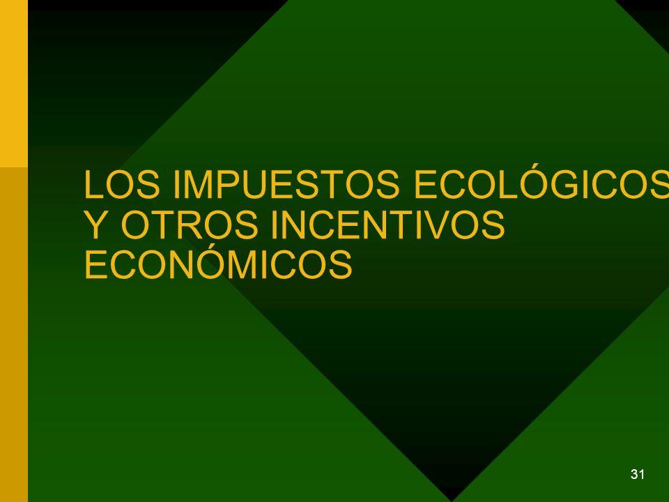 31 LOS IMPUESTOS ECOLÓGICOS Y OTROS INCENTIVOS ECONÓMICOS