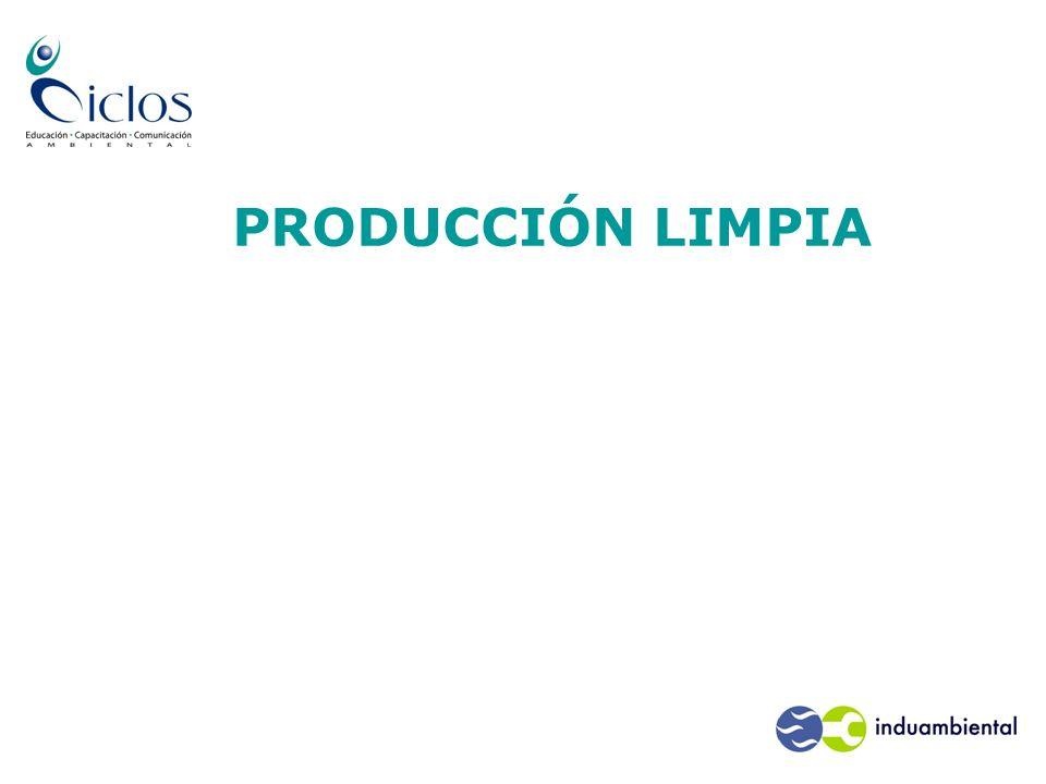 El negocio de prevenir la contaminación y producir limpio La Política Nacional de Producción Limpia Cooperación Público-Privada.
