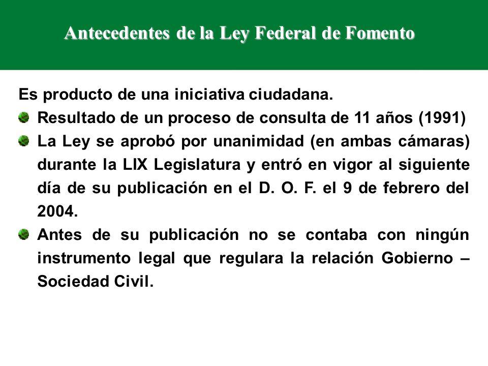Organizaciones que SI se pueden acoger a la Ley Federal de Fomento a las Actividades Realizadas por OSC Con C L U N I ( Clave Única del Registro Federal de las OSC ).