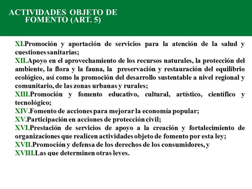 Las Organizaciones de la Sociedad Civil inscritas en el Registro Federal de las OSC (CLUNI) adquieren ciertos derechos y obligaciones, entre los que destacan: Derechos (Art.