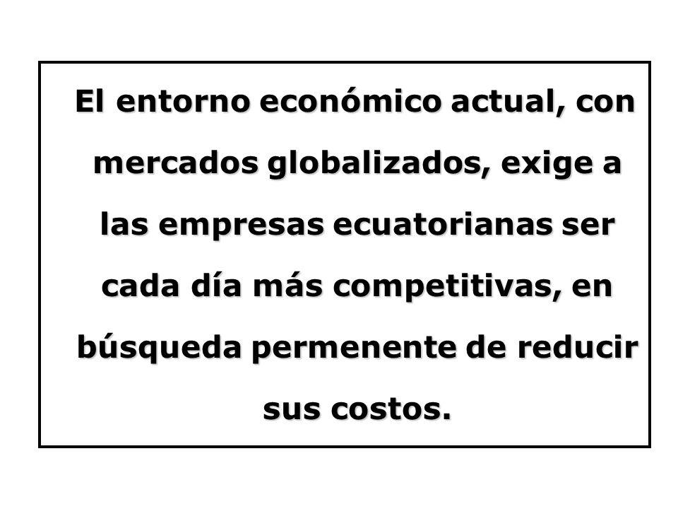 El entorno económico actual, con mercados globalizados, exige a las empresas ecuatorianas ser cada día más competitivas, en búsqueda permenente de red