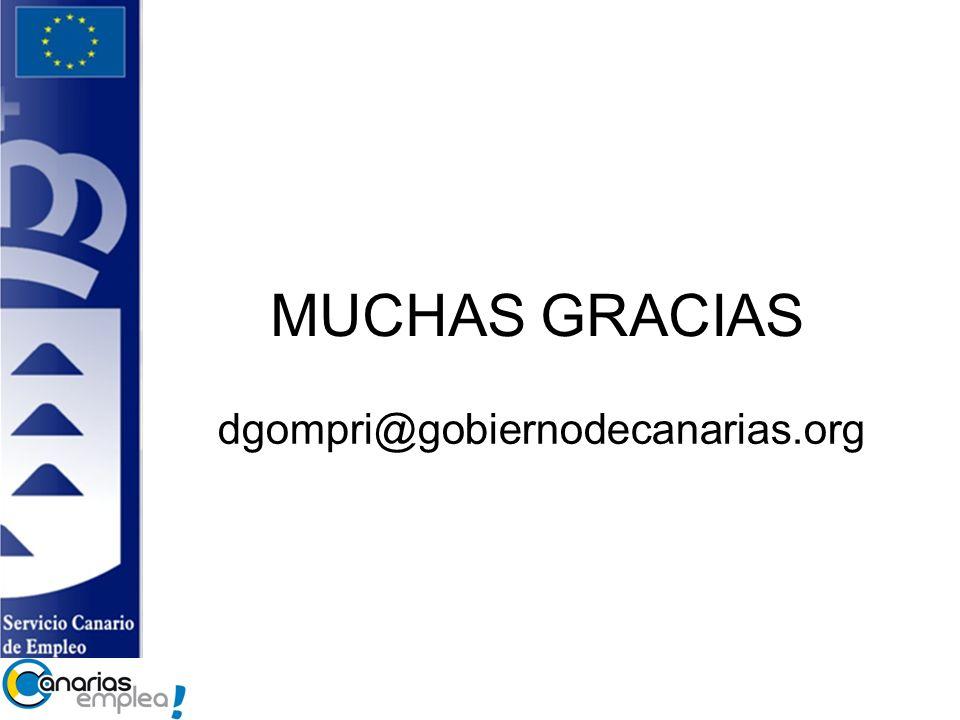 MUCHAS GRACIAS dgompri@gobiernodecanarias.org
