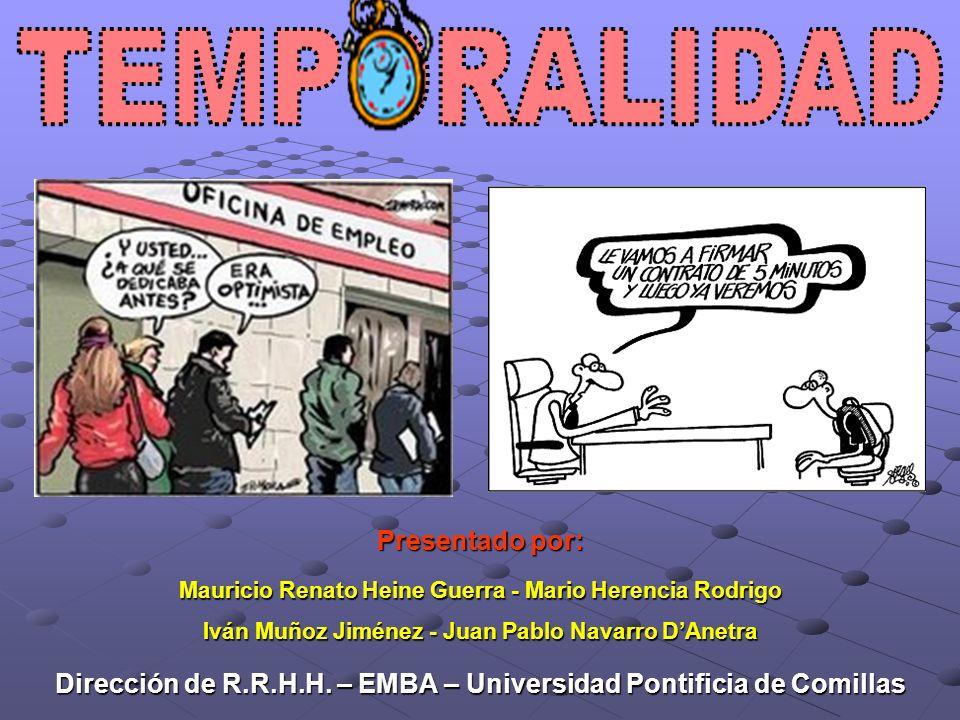 Mauricio Renato Heine Guerra - Mario Herencia Rodrigo Iván Muñoz Jiménez - Juan Pablo Navarro DAnetra Presentado por: Dirección de R.R.H.H. – EMBA – U