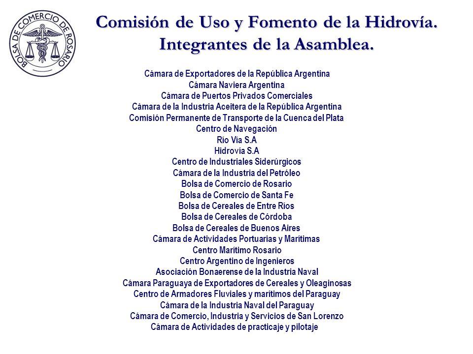 Comisión de Uso y Fomento de la Hidrovía.Integrantes de la Asamblea.