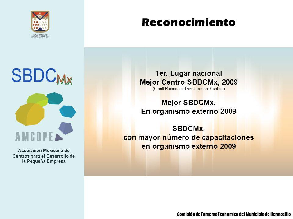 Asociación Mexicana de Centros para el Desarrollo de la Pequeña Empresa 1er. Lugar nacional Mejor Centro SBDCMx, 2009 (Small Businesss Development Cen