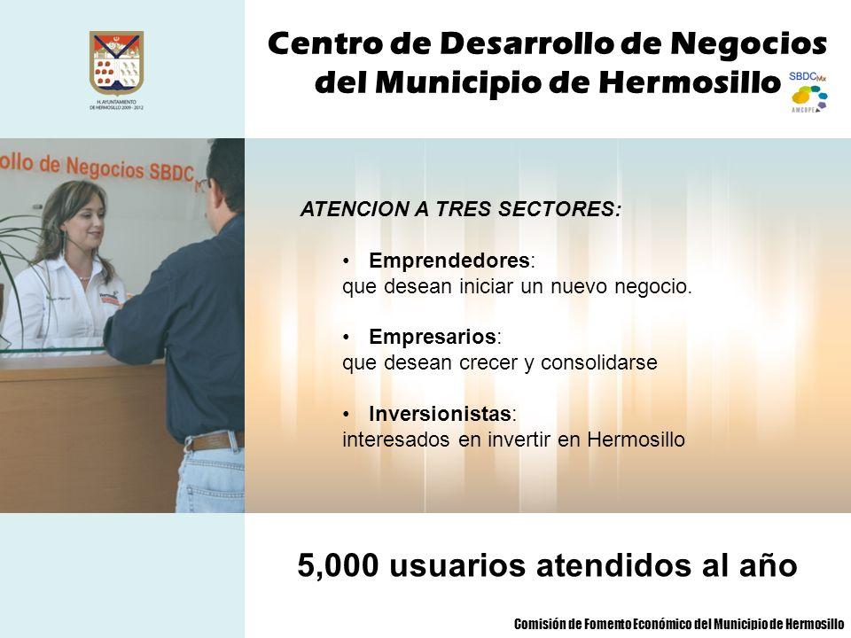 Centro de Desarrollo de Negocios del Municipio de Hermosillo SERVICIOS QUE SE OFRECE Asesoría y capacitación Consultoría especializada Financiamiento Ventanilla única empresarial Comercio exterior