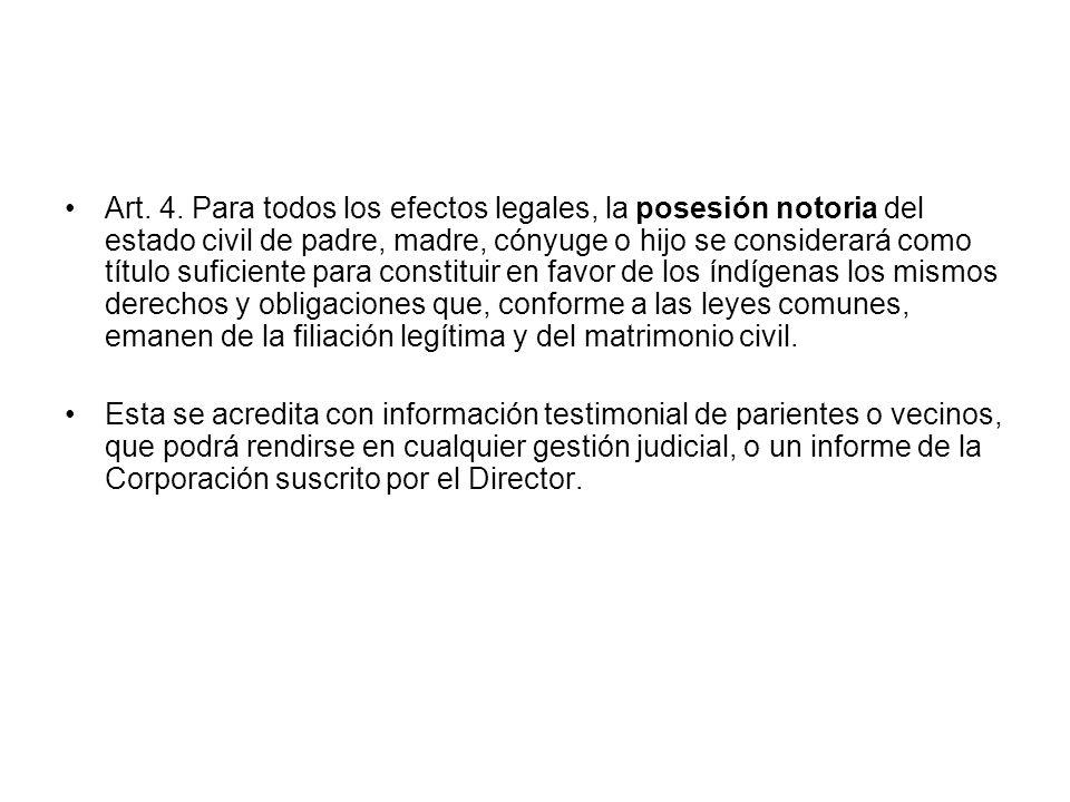 Disposiciones particulares Para los mapuche huilliche Art.