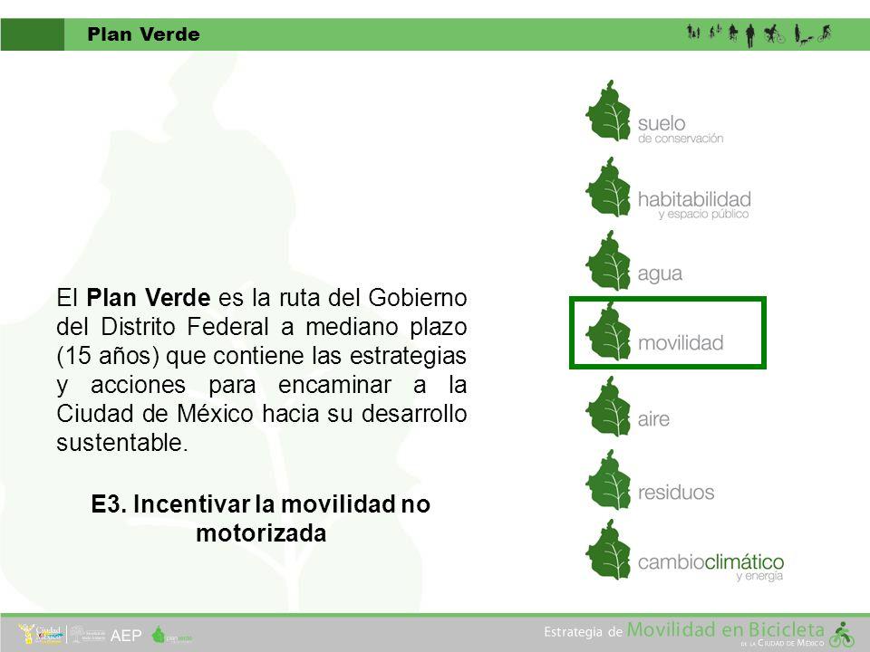 El Plan Verde es la ruta del Gobierno del Distrito Federal a mediano plazo (15 años) que contiene las estrategias y acciones para encaminar a la Ciuda
