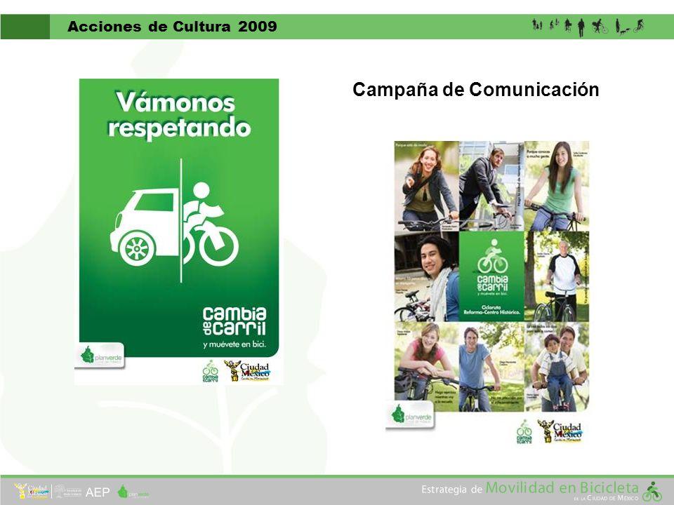 Acciones de Cultura 2009 Campaña de Comunicación