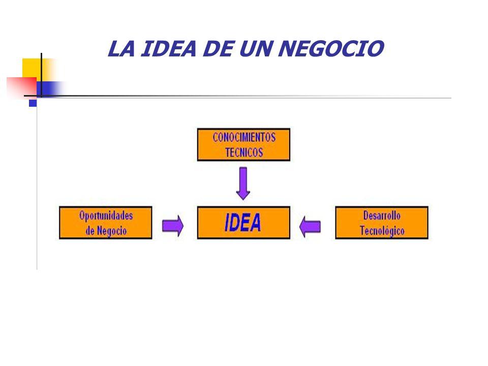 LA IDEA DE UN NEGOCIO