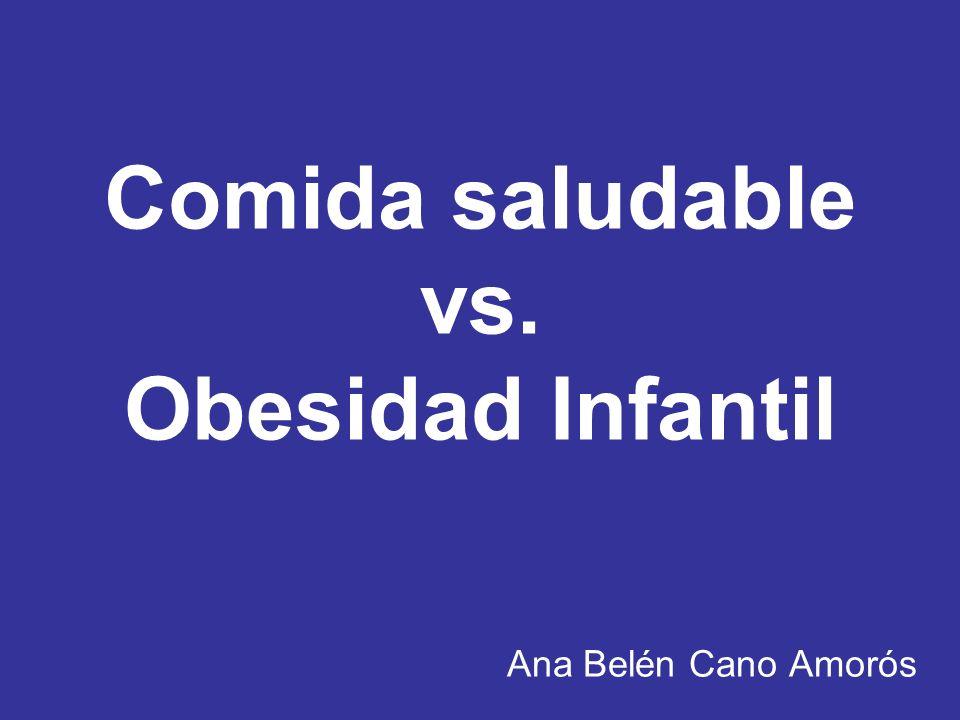 Comida saludable vs. Obesidad Infantil Ana Belén Cano Amorós
