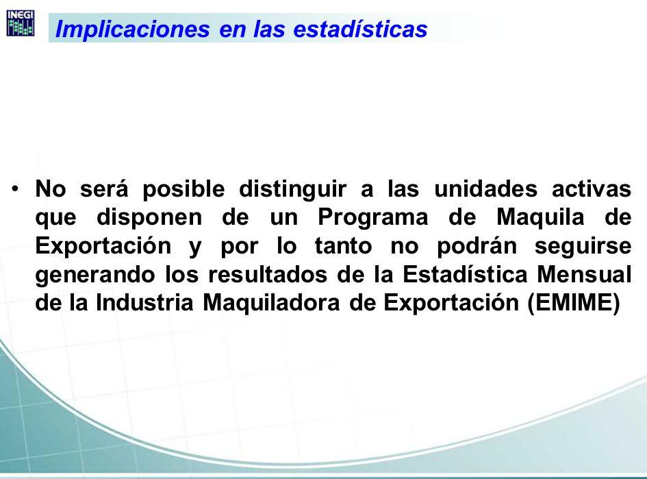 Se concluyó la serie mensual de la EMIME en 2006, por lo que se mantuvo la publicación de esta estadística hasta febrero.