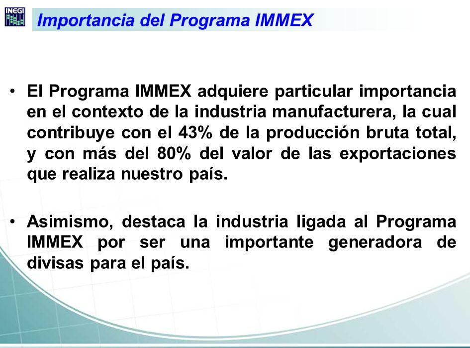 Disponer de estadísticas mensuales para caracterizar las actividades ligadas a la exportación en el contexto del Programa IMMEX Objetivo general del acopio de información en los establecimientos con Programa IMMEX