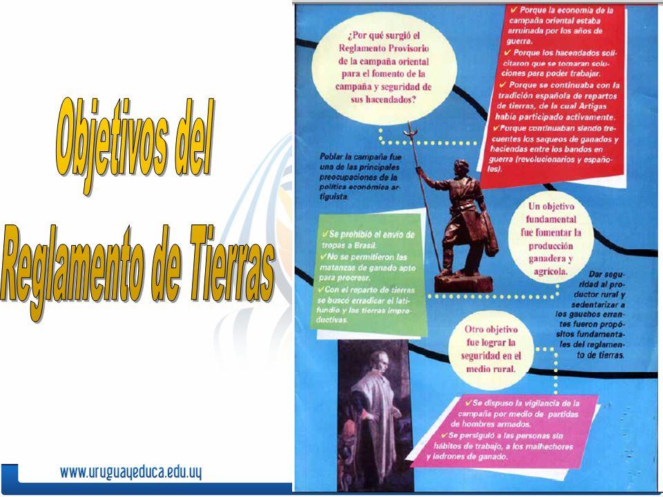 Bibliografía: Artigas, José- Reglamento de Tierras de 1815- Nahum, Benjamín.