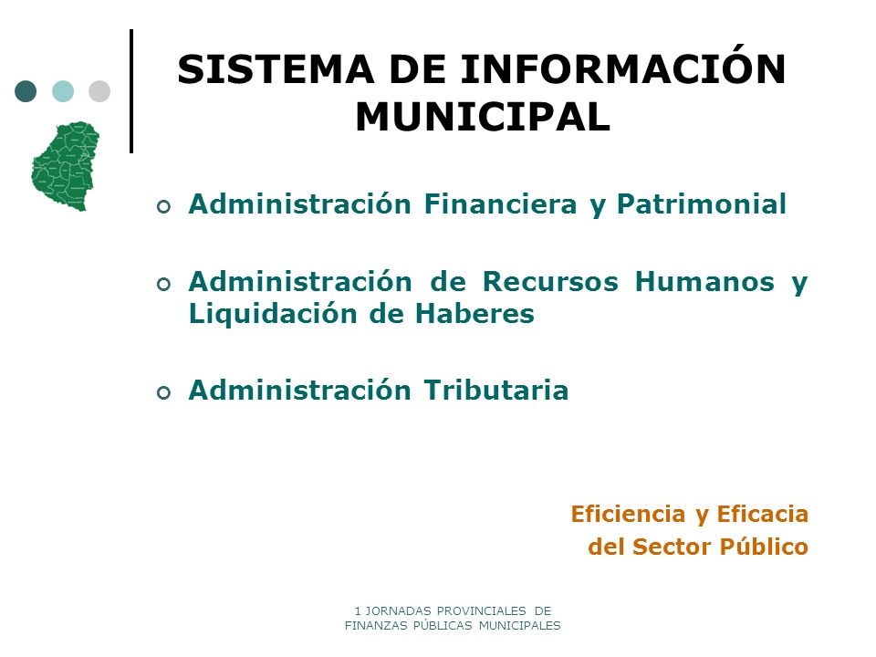 1 JORNADAS PROVINCIALES DE FINANZAS PÚBLICAS MUNICIPALES SISTEMA DE INFORMACIÓN MUNICIPAL Administración Financiera y Patrimonial Administración de Re