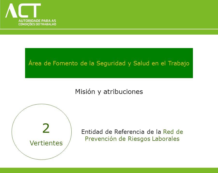 Área de Fomento de la Seguridad y Salud en el Trabajo Misión y atribuciones Entidad de Referencia de la Red de Prevención de Riesgos Laborales 2 Verti