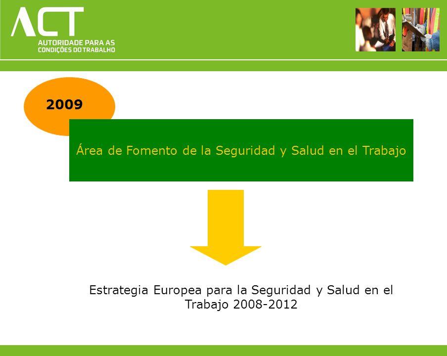 2009 Área de Fomento de la Seguridad y Salud en el Trabajo Estrategia Europea para la Seguridad y Salud en el Trabajo 2008-2012
