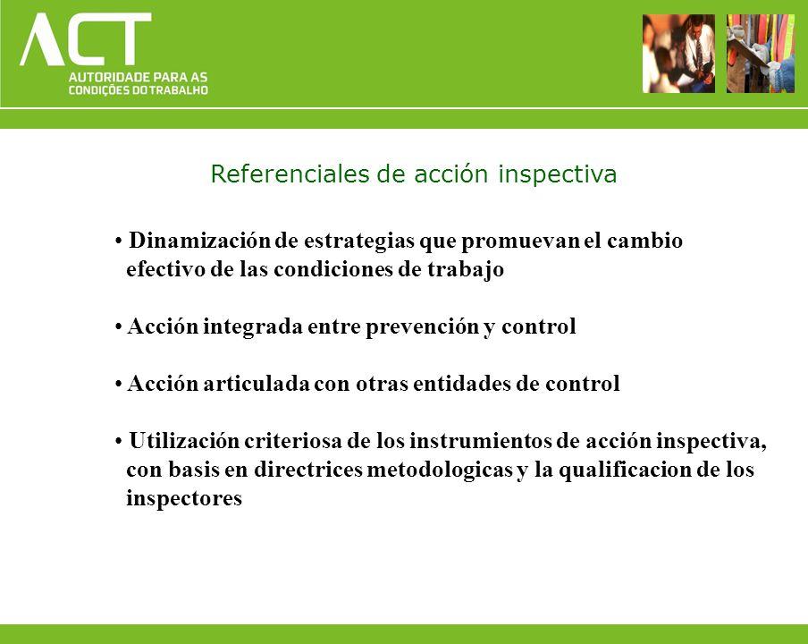Dinamización de estrategias que promuevan el cambio efectivo de las condiciones de trabajo Acción integrada entre prevención y control Acción articula