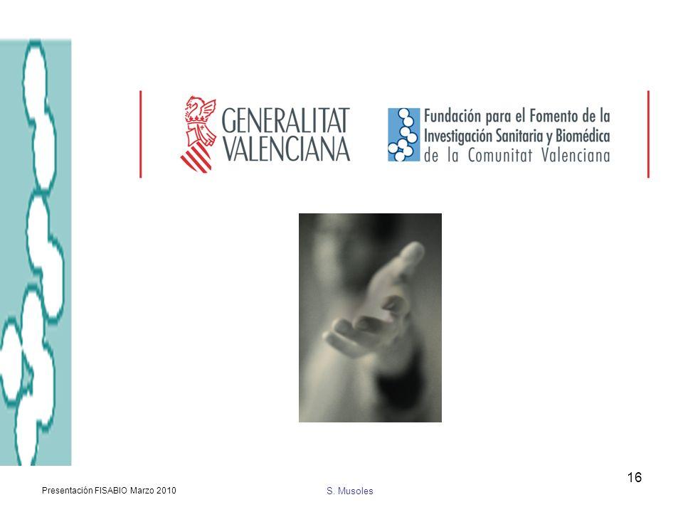 S. Musoles Presentación FISABIO Marzo 2010 16