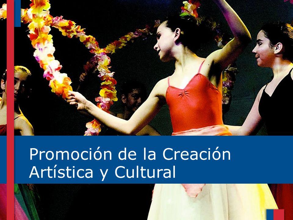 4 FOMENTO DE LAS ARTES: Incluye el conjunto de MACRO ÁREAS DE ARTES ESCÉNICAS: Teatro, Danza y Artes Circenses; Artes de la visualidad: Artes Visuales, Fotografía y Nuevos medios e Industrias emergentes: Artesanía, Arquitectura y Diseño,.