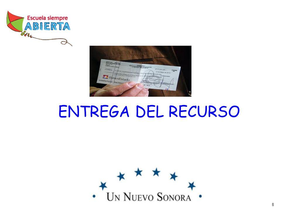8 ENTREGA DEL RECURSO
