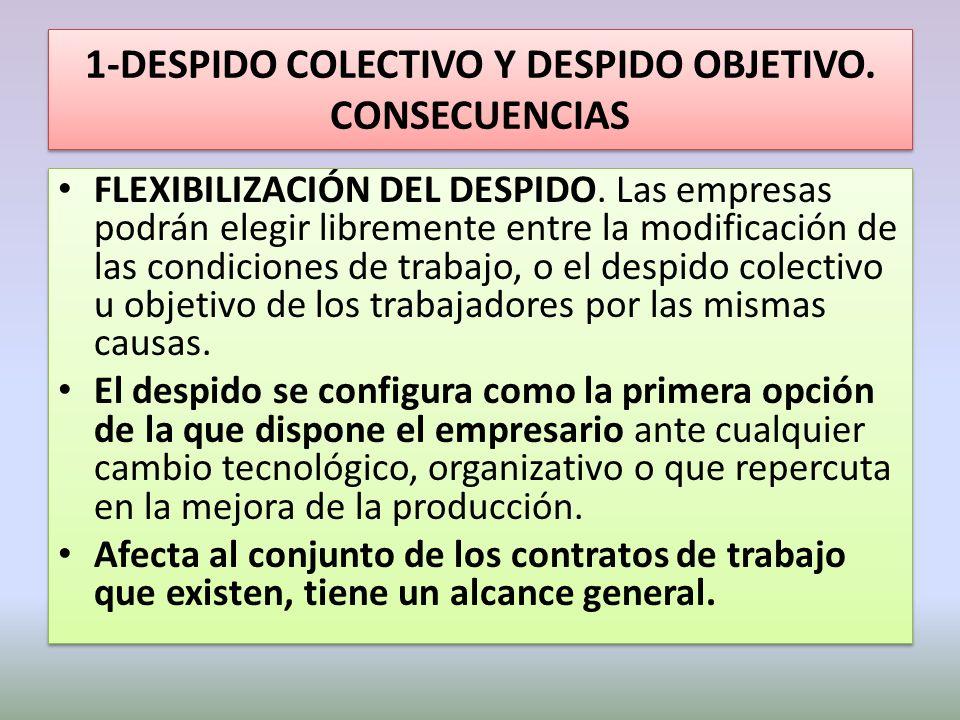 2- CONTRATO DE FOMENTO DE LA CONTRATACIÓN INDEFINIDA NUEVOS COLECTIVOS DESTINATARIO DEL CONTRATO DE FOMENTO: – Los desempleados que durante los dos años anteriores pierdan un contrato indefinido.