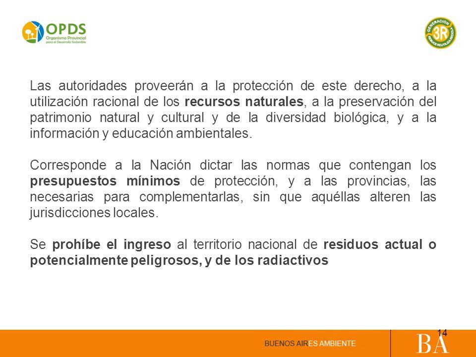 Las autoridades proveerán a la protección de este derecho, a la utilización racional de los recursos naturales, a la preservación del patrimonio natur