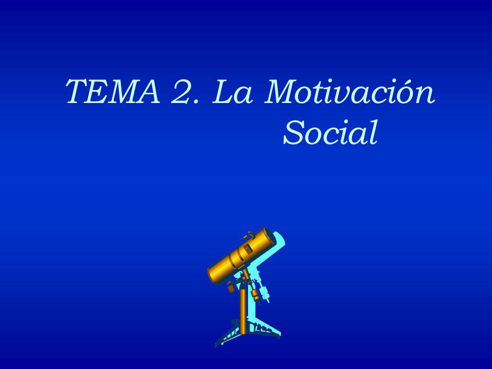 1.- Introducción 2.- El estudio de la motivación desde la Psicología Social 3.- Los motivos sociales básicos 3.1.